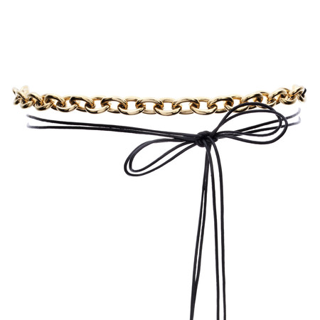 Amber Sceats The 'Sara' Leather and Chain Choker