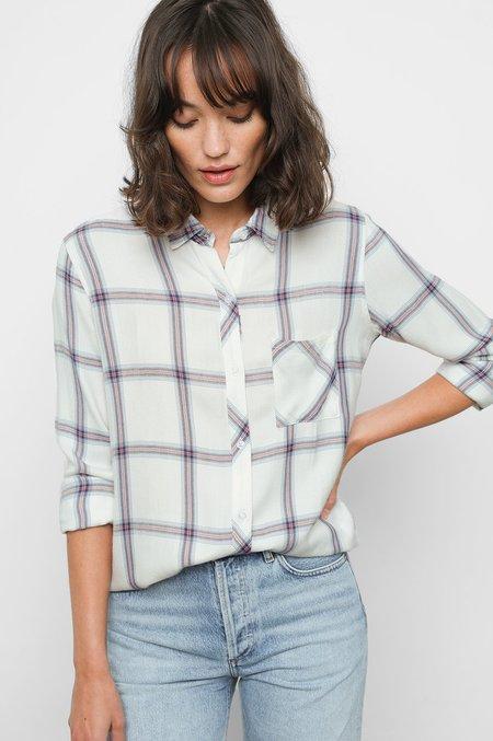 Rails Hunter Shirt - White/Scarlet