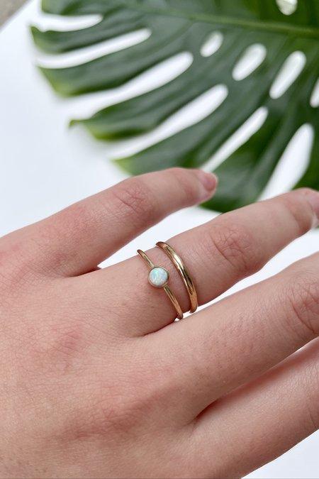 The Minimalist Magnolia Half Round Stacking Ring