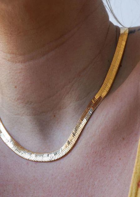 JoeLuc Zuma herringbone chain - 18K gold filled