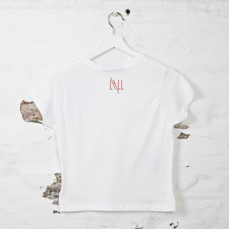 Little High, Little Low PIXIE T top - white