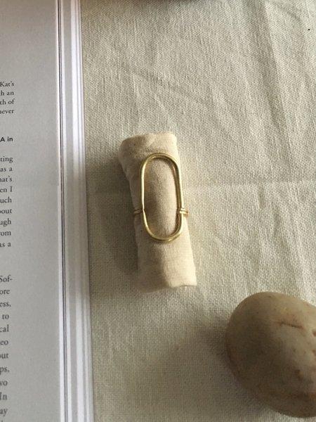 Mahnal Adas Ring - Solid brass