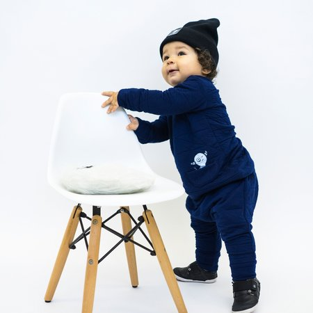 Kids Bash + Sass Asymmetric Pullover - Quilted Deep Blue