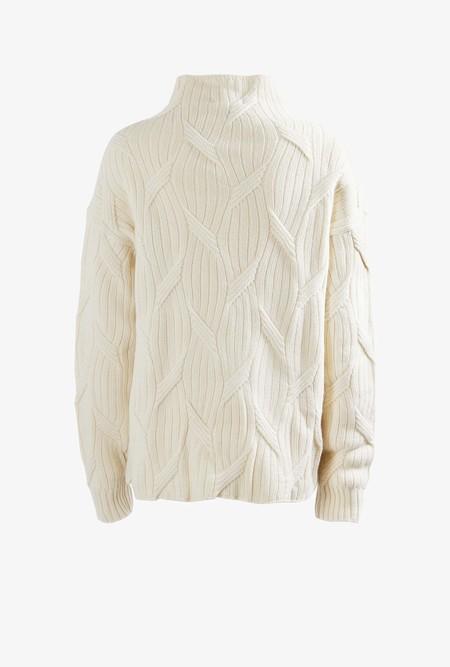 Maison De Ines Autumn Leaf Cashmere Sweater - Ivory