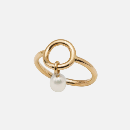 Kara Yoo Celina Pearl Ring - Yellow Gold