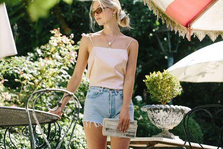 Merritt Charles Corinne Silk Camisole - Light Pink