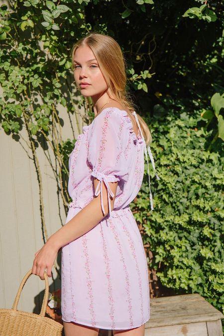 Merritt Charles Daffodil Dress - Purple Floral