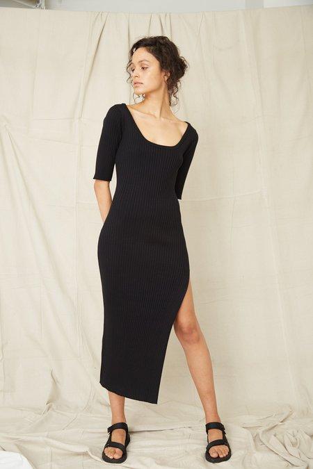 Third Form Dunes Rib Knit Scoop Maxi Dress