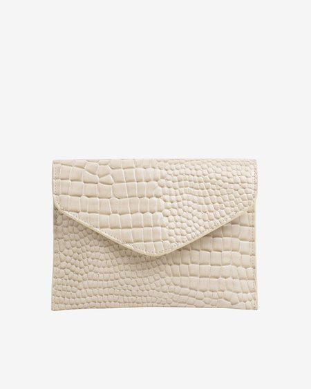 HVISK Evolve Croco Bag - Soft Off White