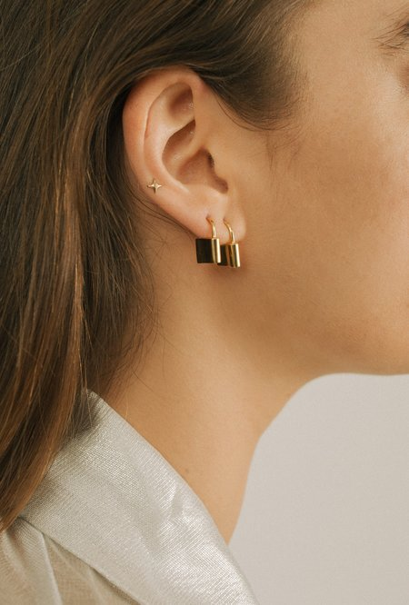 Merewif Holmes Earrings - Gold Plated Brass