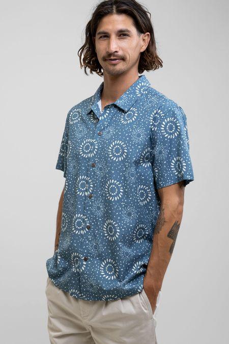 Rhythm Kona S/S Shirt - blue