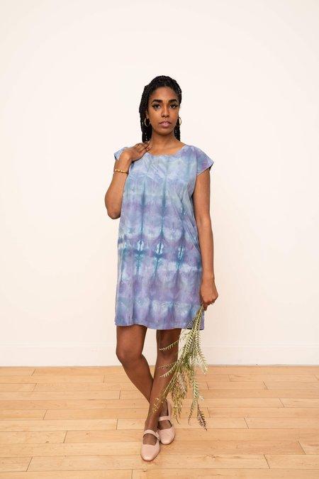 3rd Season Designs Laguna Silk Shift Dress - Ikat Design