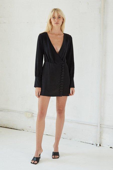 Third Form Move on LS Mini Dress - BLACK