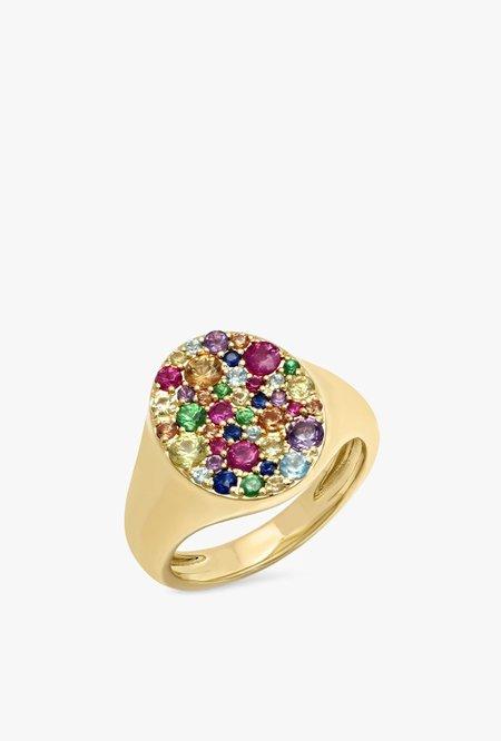 Eriness Pinky Signet Ring - MULTI/14kYG