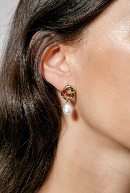 Wolf Circus Ophelia Earrings - 14k gold-plated