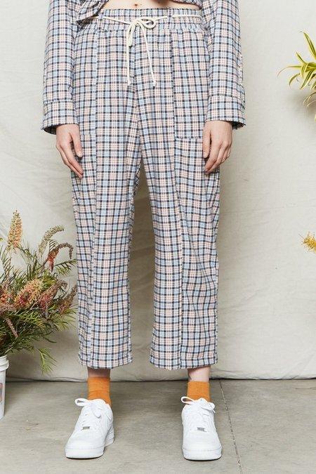 Back Beat Co. Organic Cotton Plaid Adventure Pant - Blue Plaid