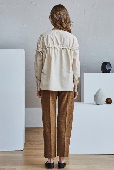 Maison De Ines Pin-tuck Wool Pants - Camel