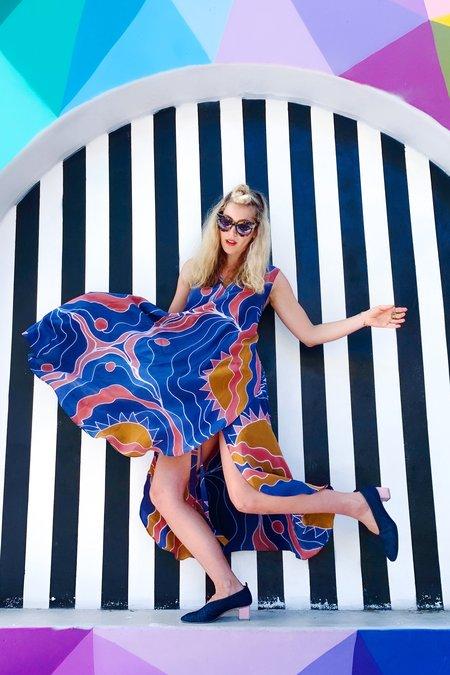 3rd Season Designs Riviera Wrap Dress - Hand Painted Silk
