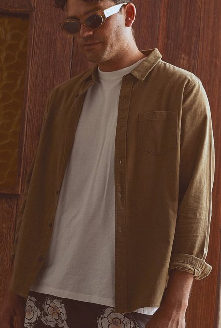 Banks Journal Roy L/S Shirt - Bronze