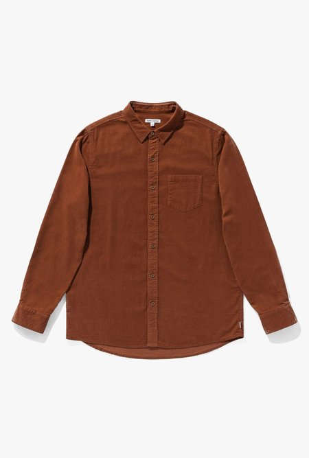 Banks Journal Roy L/S Woven Shirt - Baked Clay