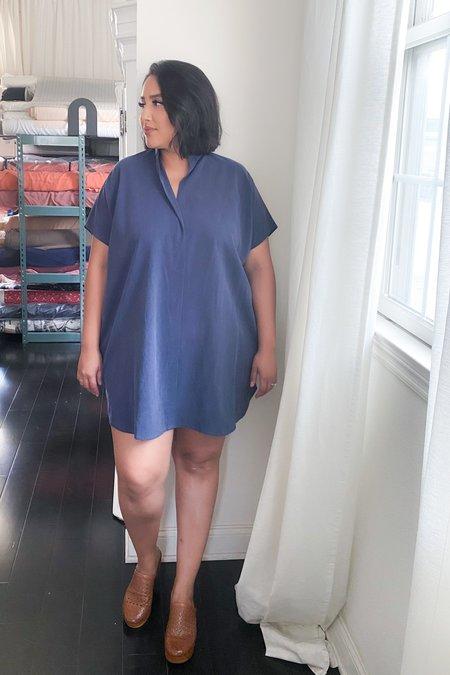 3rd Season Designs Shirt Dress - Indigo Tencel
