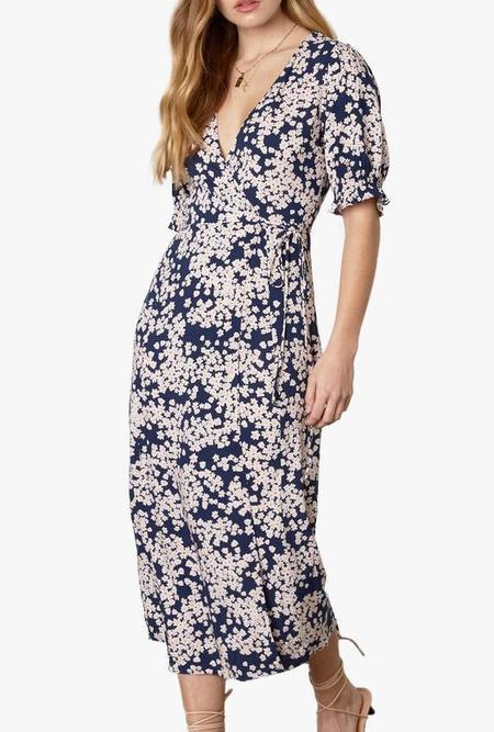 Azalea Skye Maxi Floral Wrap Dress - Navy