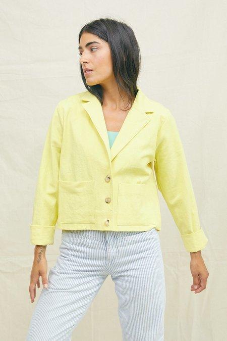 Back Beat Co. The Alex Crop Jacket - Lemon