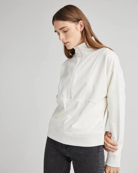 Richer Poorer terry half zip pullover - bone