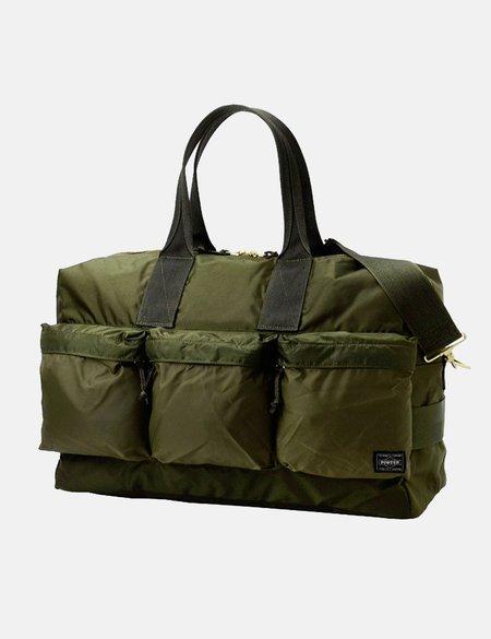 Porter Yoshida & Co Force 2 Way Duffle Bag - green