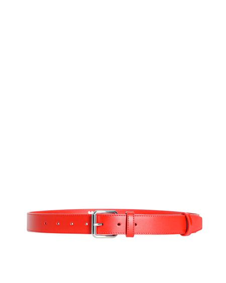 Comme des Garçons Wallet Logo Leather Belt - Red