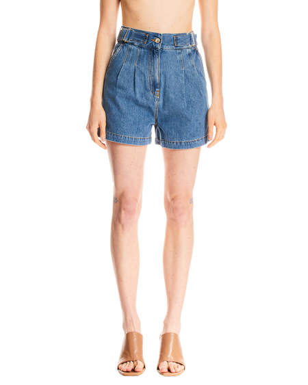 MSGM High Waist Shorts - blue