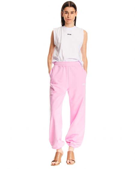 MSGM Logo Tracksuit Pant - pink