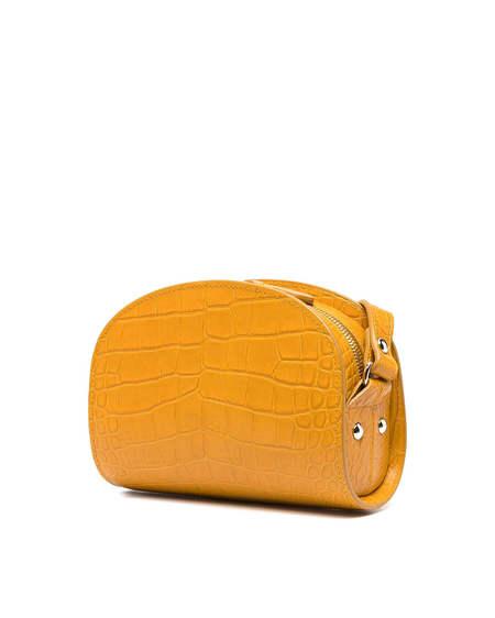 A.P.C. Mini Demi Lune Leather Bag - Ocher