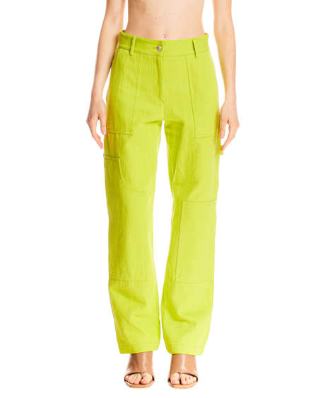 MSGM High Waist Pants - Green