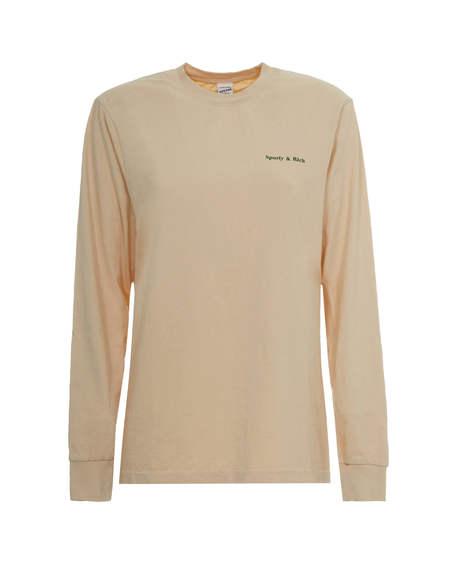 Sporty & Rich Long Sleeved Shirt - Beige