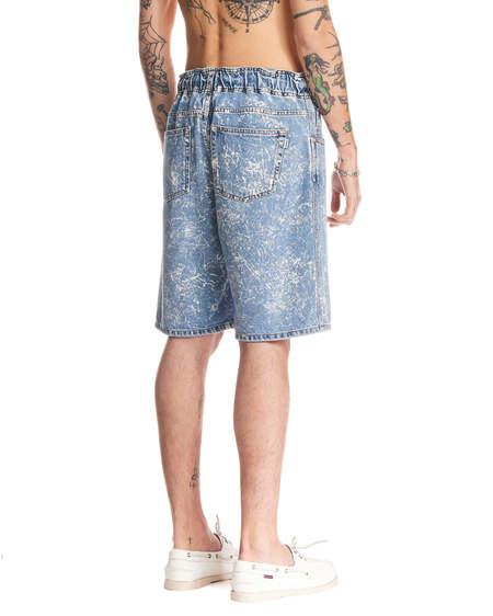 MSGM Short Denim Trousers - Blue