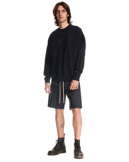 Rick Owens Drawstring Short Pants - black