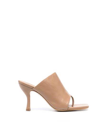 Gia Couture Sandals with Heel - Beige
