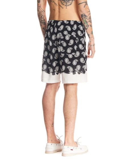 MSGM Paisley Pattern Short Trousers - Black
