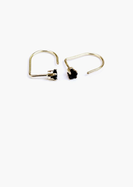 Hart & Stone black curl earring gold