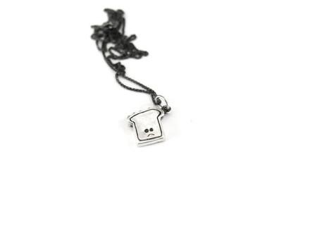 Elaine Ho Sad Tiny Toast Necklace