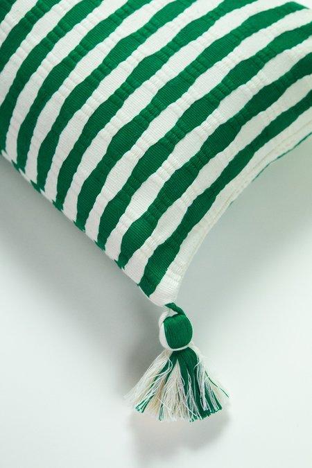 Archive New York Antigua Pillow - Emerald Stripe