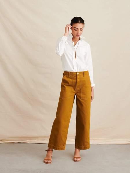 Alex Mill Bobby Paper Cotton Shirt - white