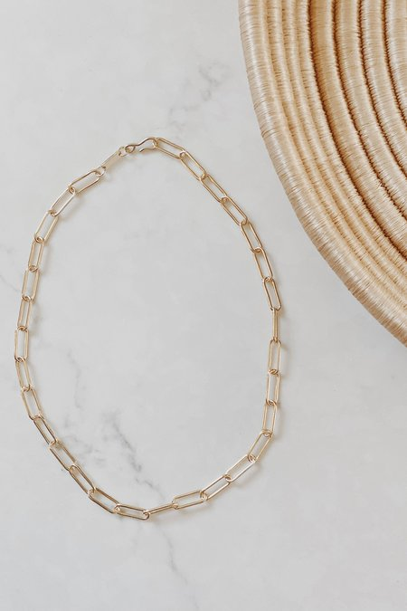 Whimsy + Row Machete Paperclip Necklace - Gold