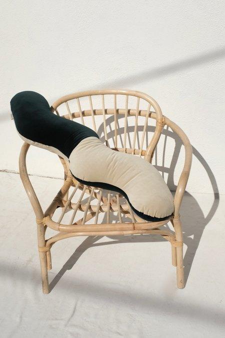 Annie Axtell Wiggles Pillow - Green/Beige