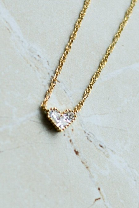MADA Pave Heart Necklace