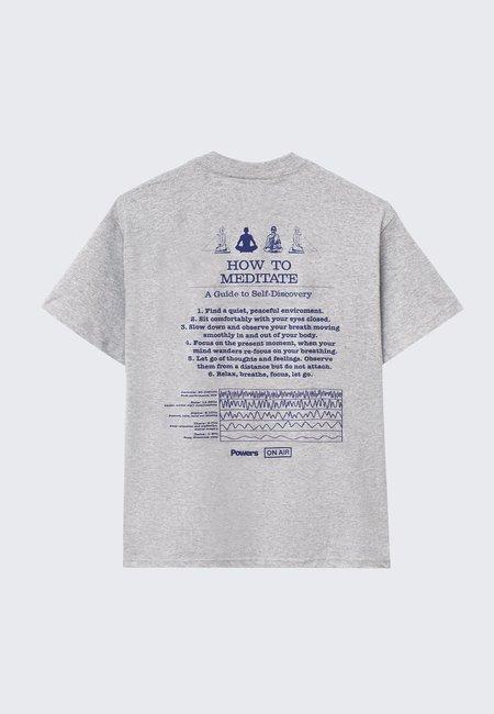 Powers Meditation T-Shirt - Heather Grey