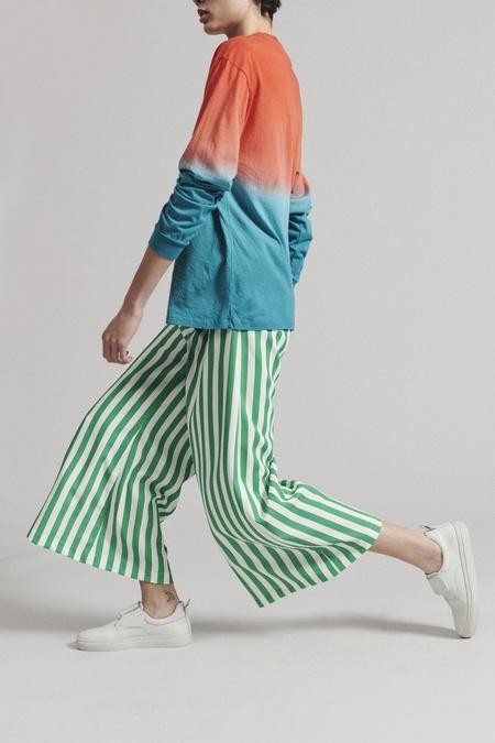 Rachel Comey Absolute Pant - Green/White Stripe