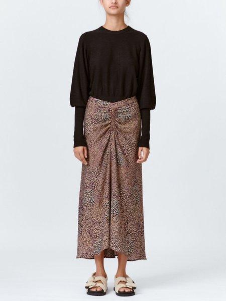 Munthe Papaya Skirt - Leopard Print