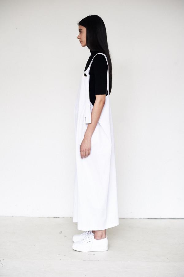 Collina Strada Twill Humpback Overalls - White